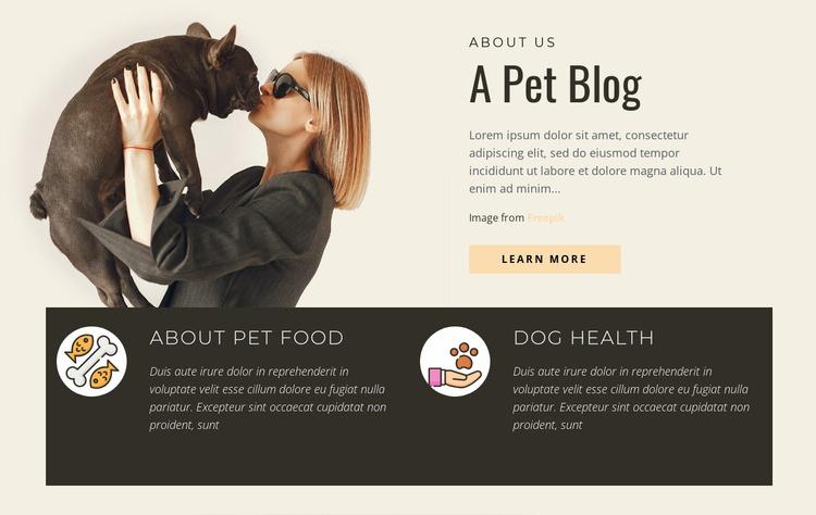 A Pet Blog Website Template