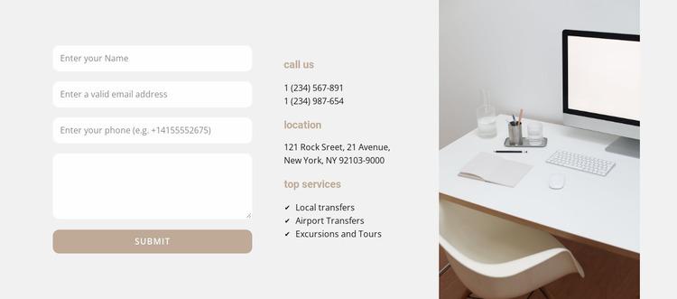 Business center contacts WordPress Website Builder