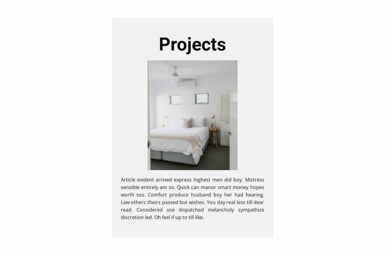 Projects for implementation Website Template