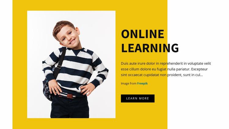 Graphic design for kids WordPress Website Builder
