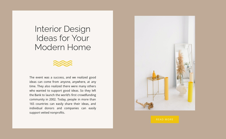 Yellow decor Joomla Page Builder