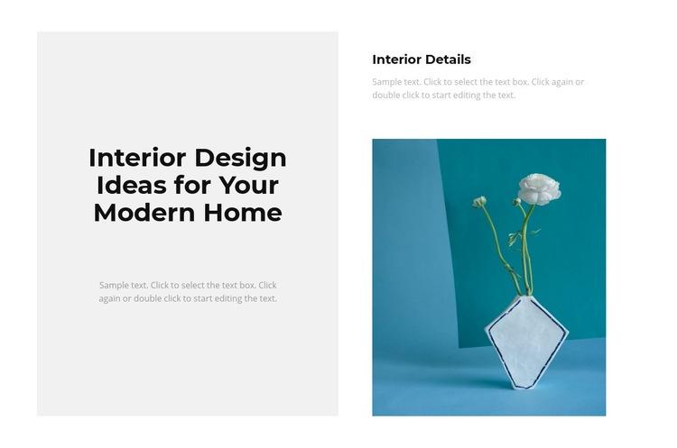 Trendy interior Web Page Designer