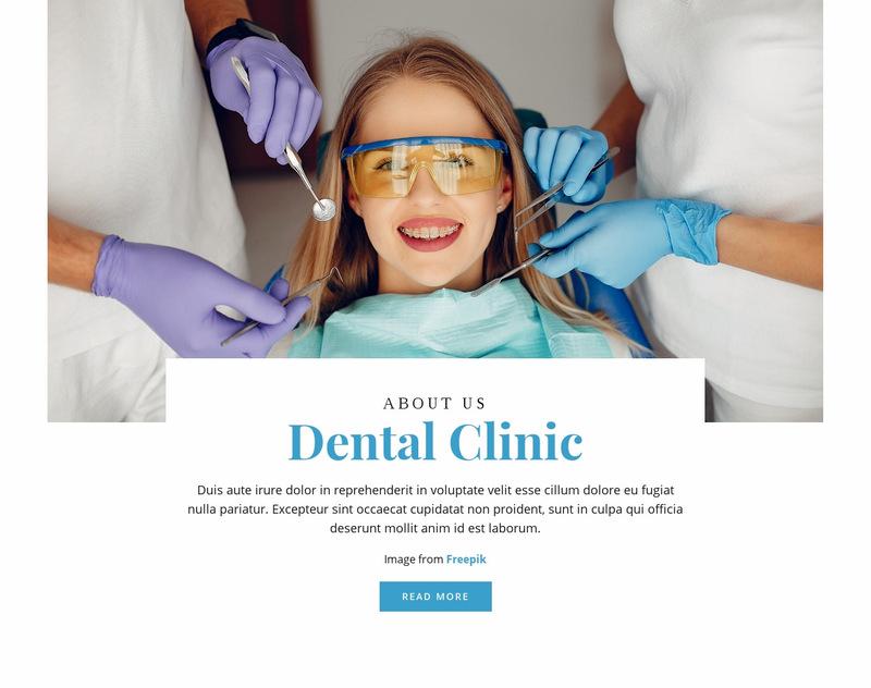 Teeth whitening Web Page Designer