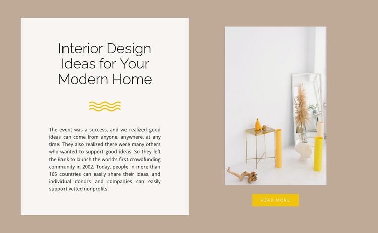 Yellow decor Website Mockup