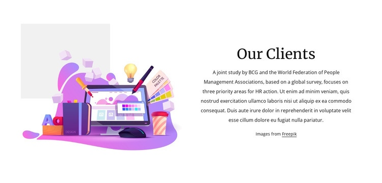 Assessment by our clients Web Page Designer