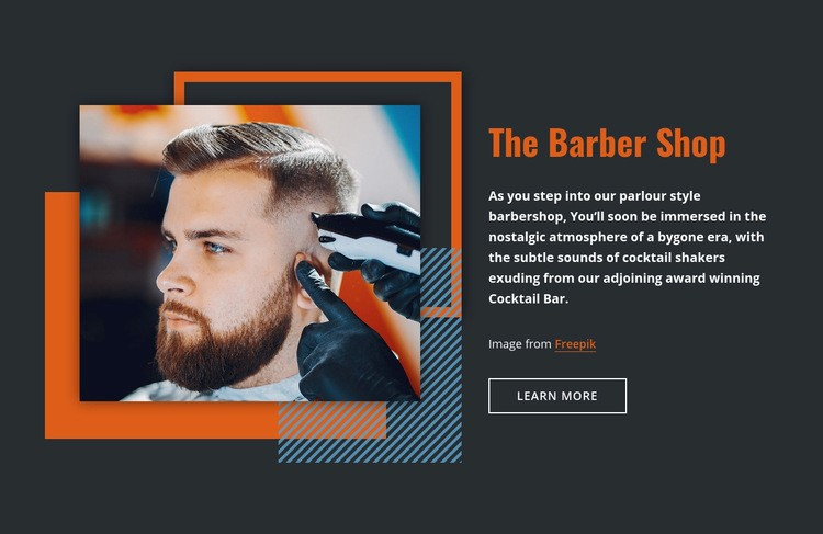 The Barber Shop Html Code Example