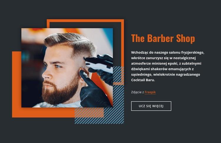 The Barber Shop Szablon witryny sieci Web