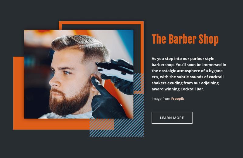 The Barber Shop Web Page Designer