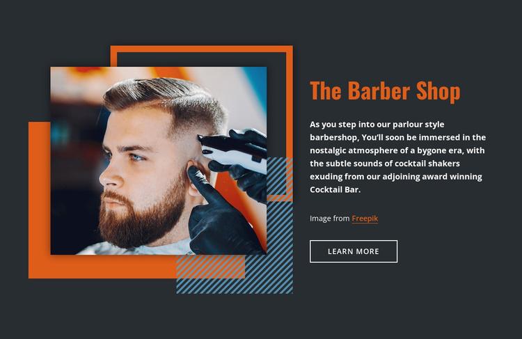 The Barber Shop Landing Page