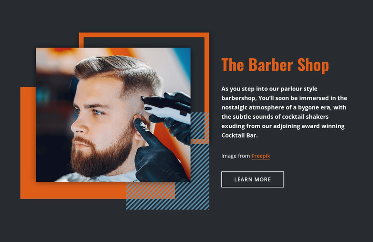 The Barber Shop WordPress Website Builder