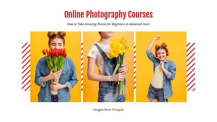 Online Photography Courses Website Mockup