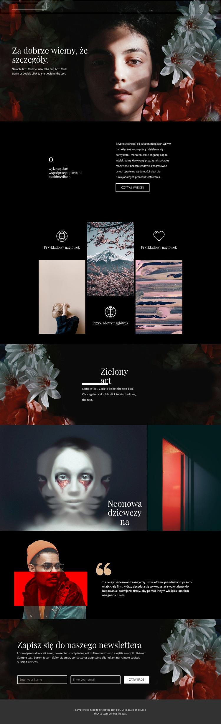 Ważne szczegóły piękna Szablon witryny sieci Web