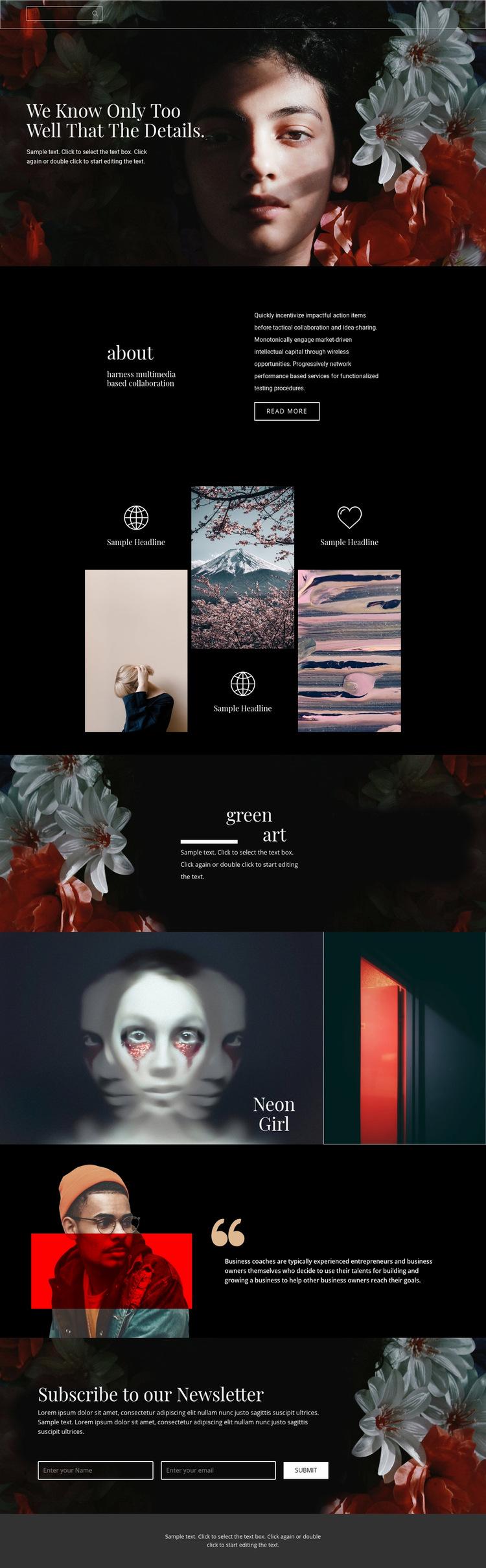 Important details of beauty Web Page Design