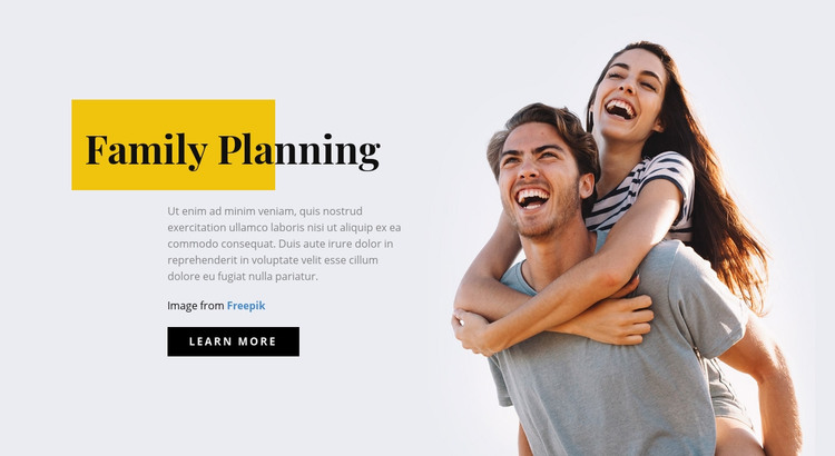 Family Planning Homepage Design