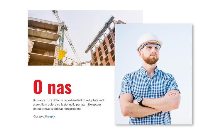 Budowanie przyszłości przemysłu Szablon witryny sieci Web