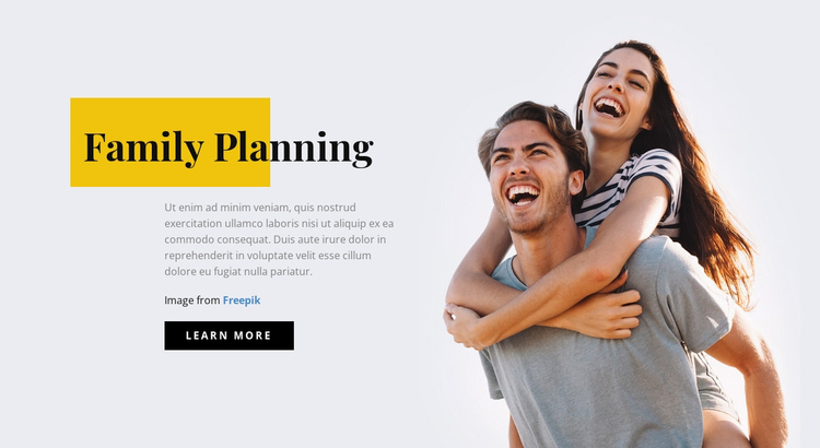 Family Planning Website Builder Software