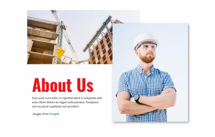 Building the future of industry Website Mockup