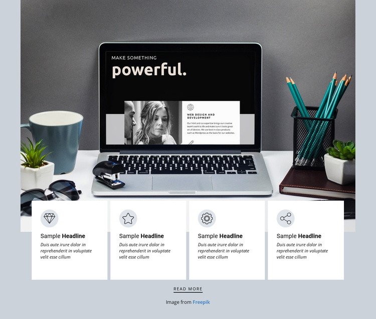 Independent design studio One Page Template