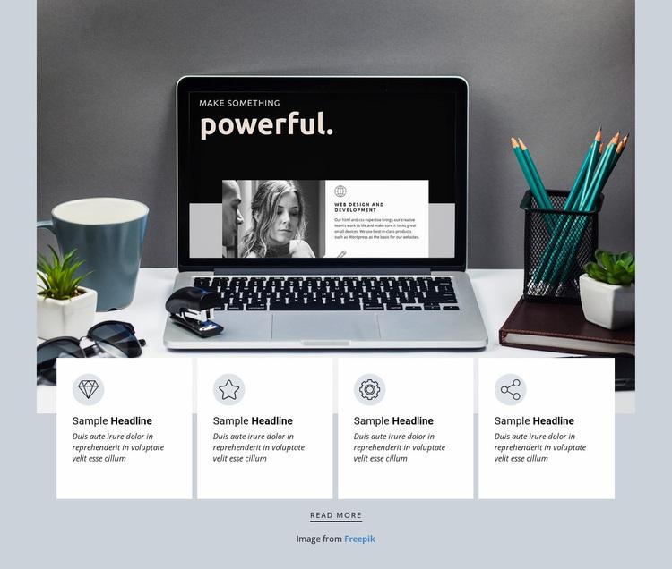 Independent design studio Website Design