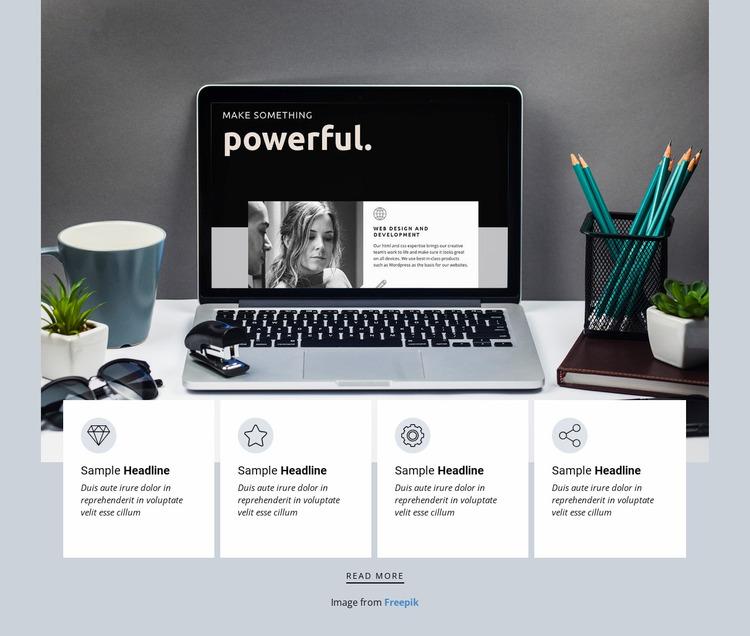 Independent design studio Website Mockup
