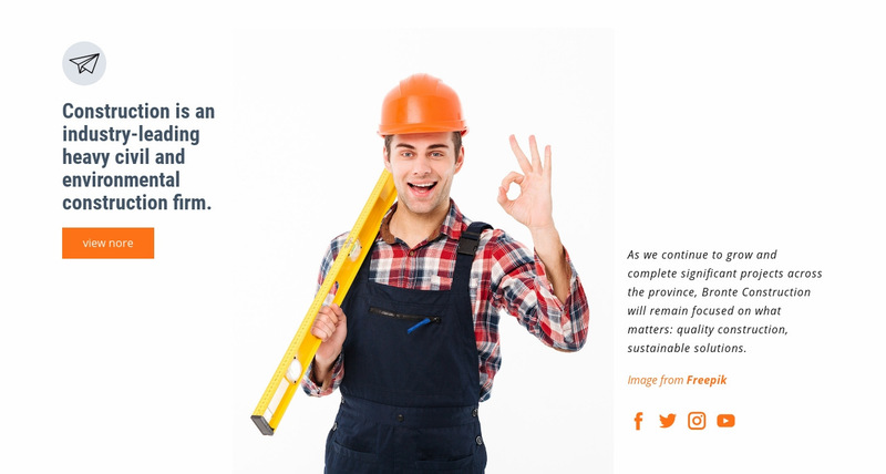 Construction industry Web Page Designer