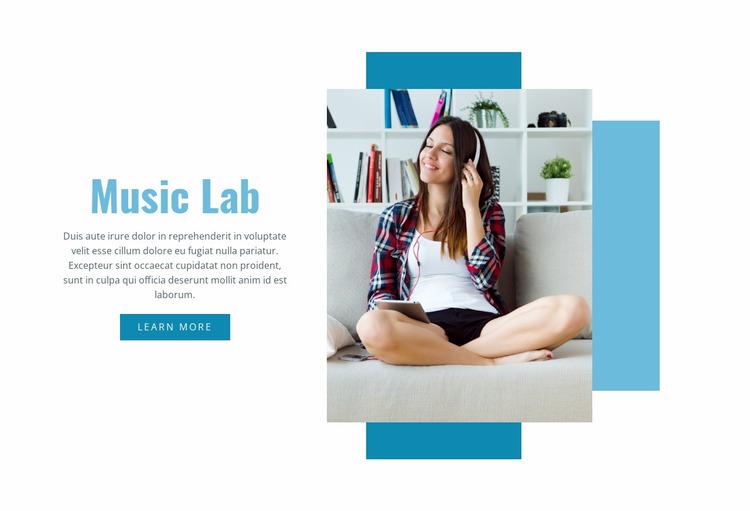 Music Lab Website Mockup