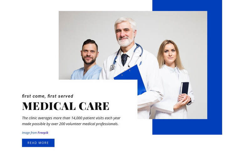 The functions of medical care Website Template
