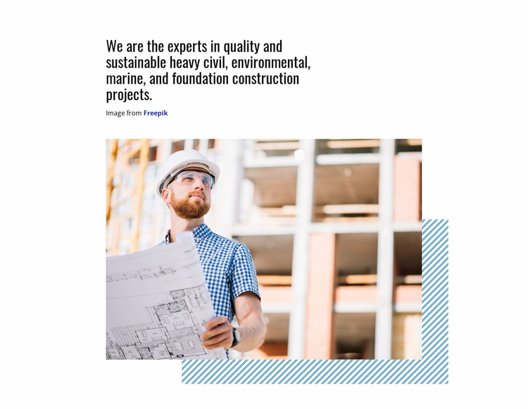 Building safety Website Template