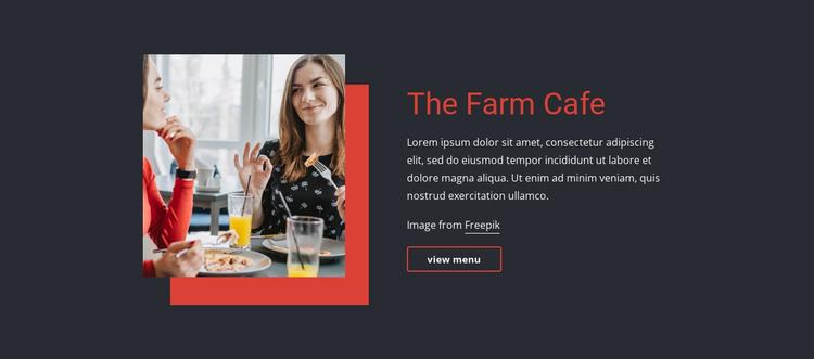 The Farm Cafe HTML Template
