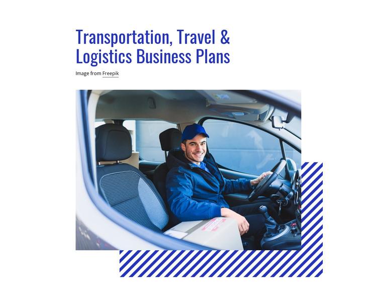Transportation, Travel & Logistics Plans HTML Template