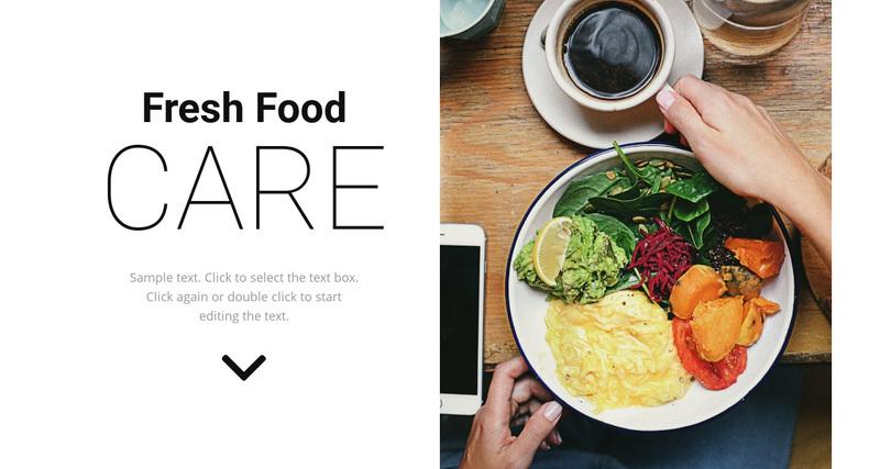 Fresh food Web Page Design