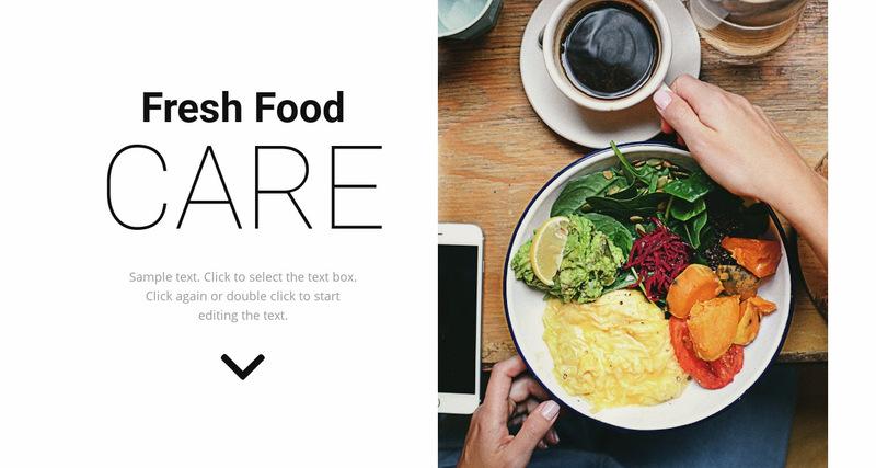 Fresh food Web Page Designer