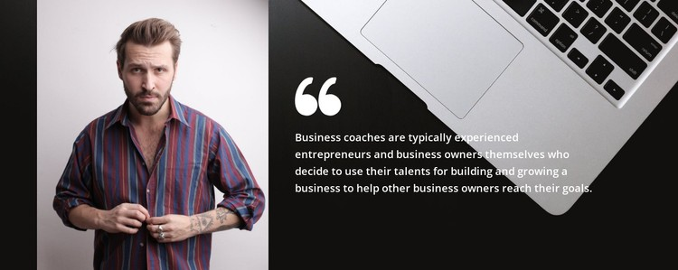 Quote about business CSS Template