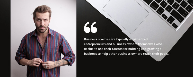 Quote about business HTML Template