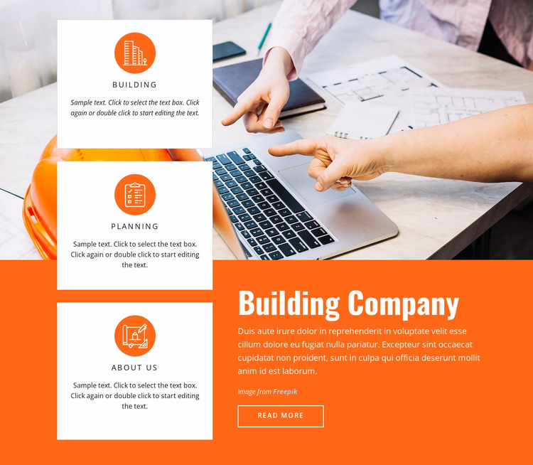 Building sustainability Website Mockup
