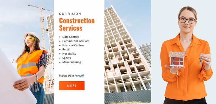 Construction Services Website Template