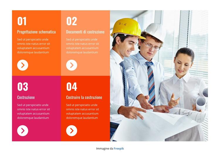 Team di costruzione professionale Modello di sito Web