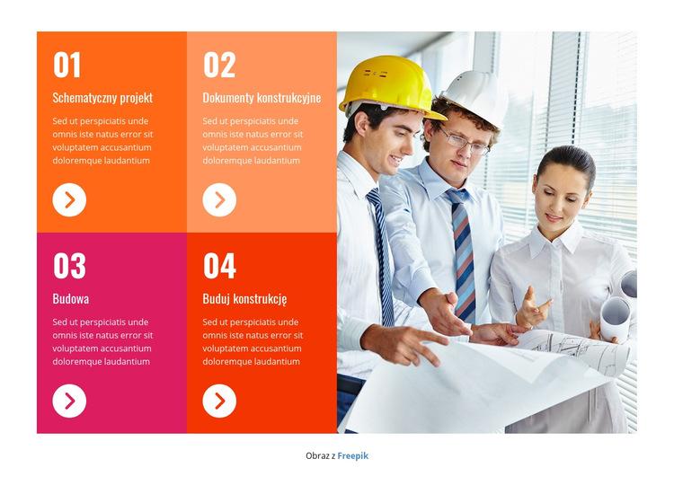 Profesjonalny zespół konstrukcyjny Szablon witryny sieci Web