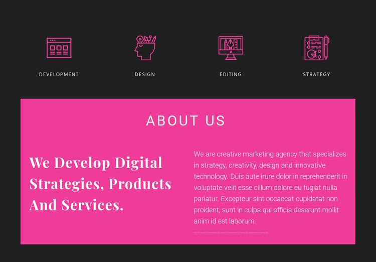 About Creative Studio Website Mockup