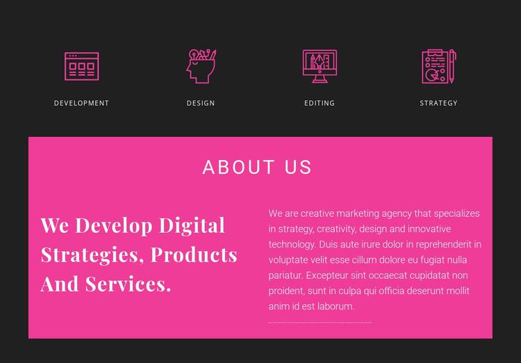 About Creative Studio Website Template
