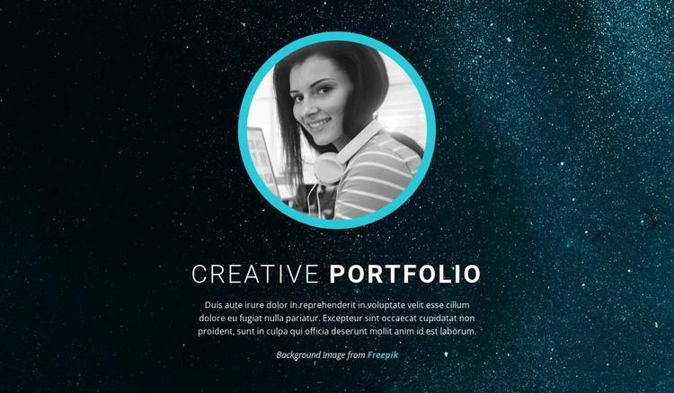 Graphic design portfolio CSS Template