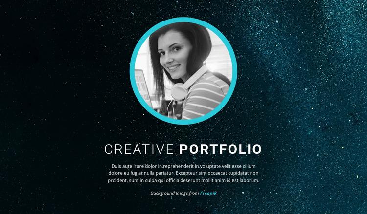 Graphic design portfolio Html Website Builder