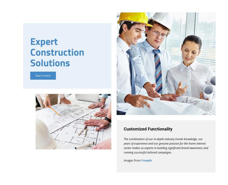 Expert Construction Solutions HTML Template