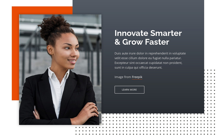 Innovate Smarter & Grow Faster Template