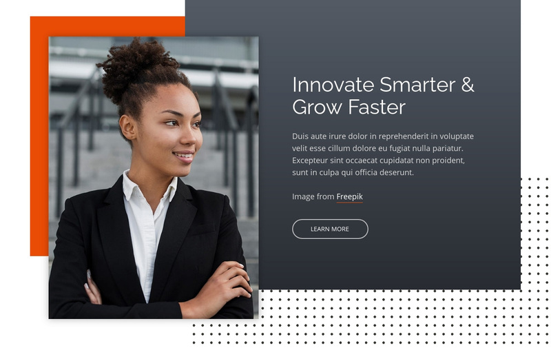 Innovate Smarter & Grow Faster Web Page Design