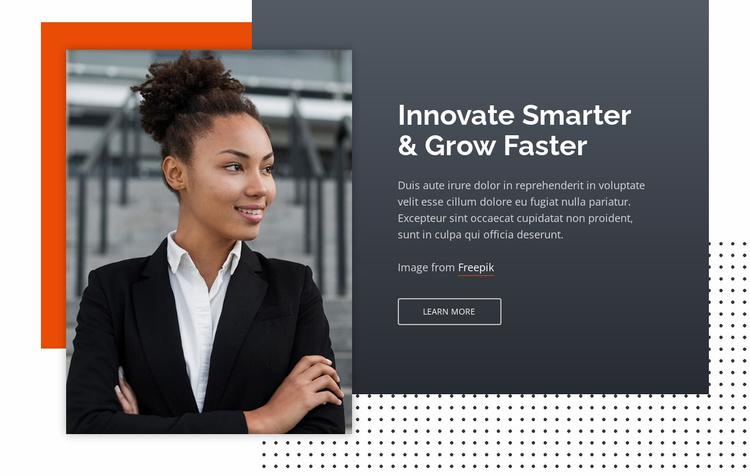 Innovate Smarter & Grow Faster Website Template