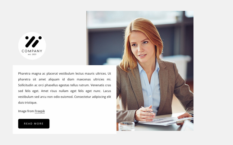 Consulting company Website Mockup