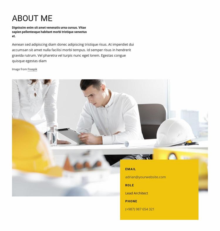Architect job profile Website Template