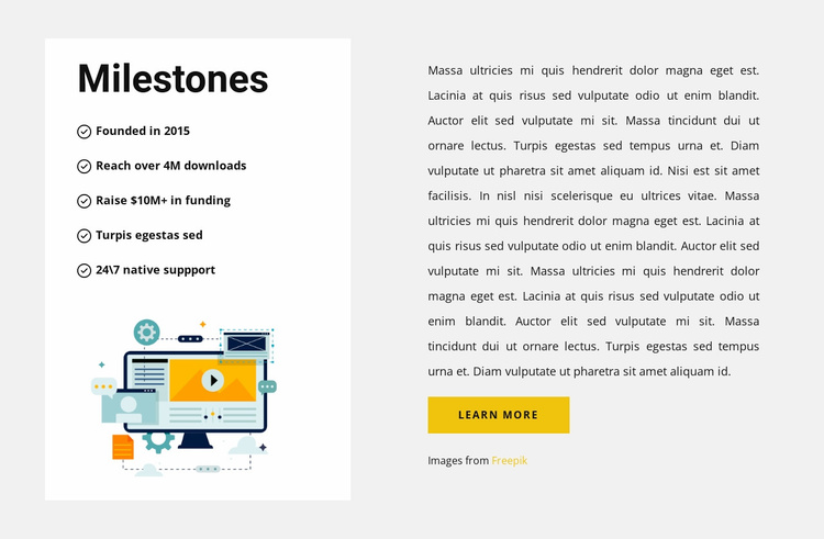 The principles of the company Website Template