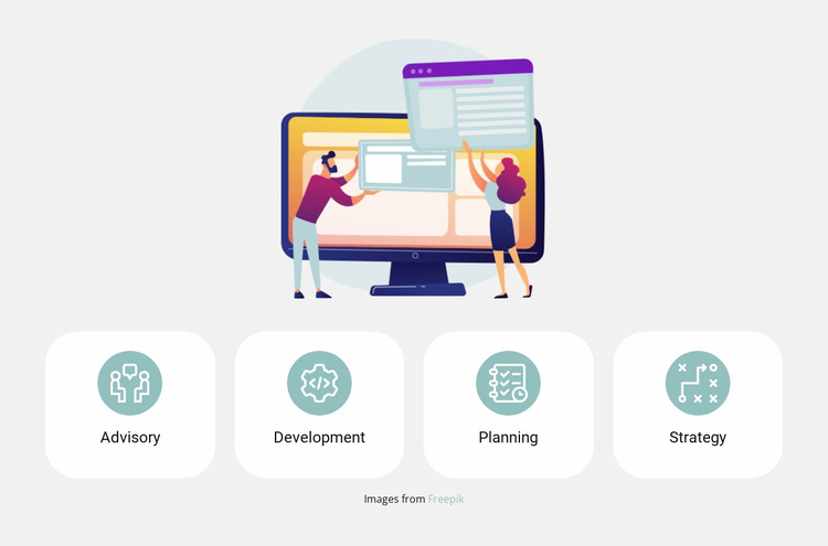 Illustrations and benefits Website Template